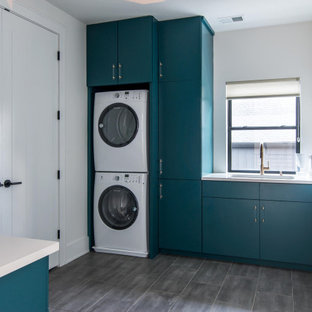 Inspiration for a contemporary laundry room remodel in Nashville