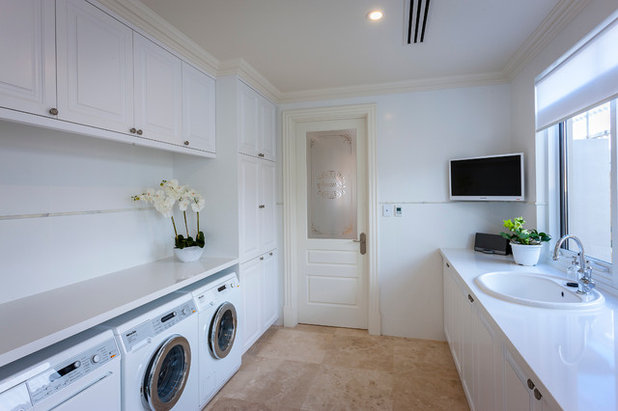 Traditional Laundry Room by Brian Burke Homes