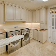 Traditional Laundry Room by Leff Construction Design/Build