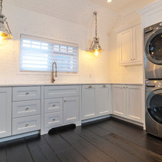 Transitional Laundry Room by Novel Painting Solutions Inc.