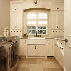 Traditional Laundry Room by Stephens Fine Homes Ltd