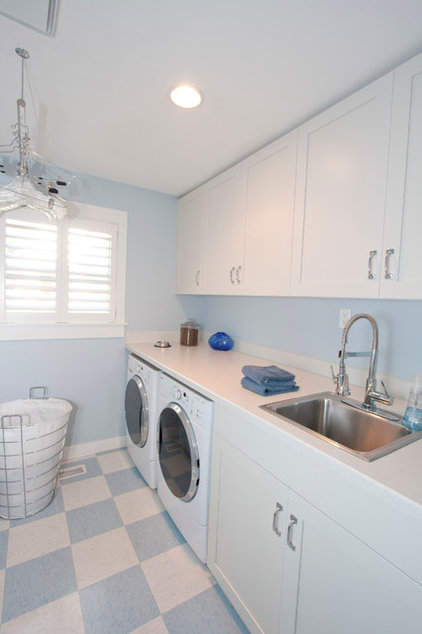 Traditional Laundry Room by Rhonda Knoche Design