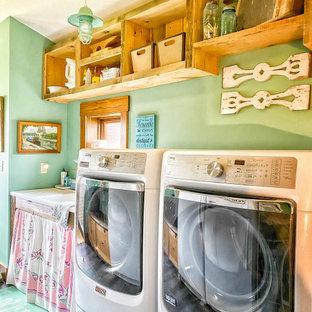 Ispirazione per una lavanderia country