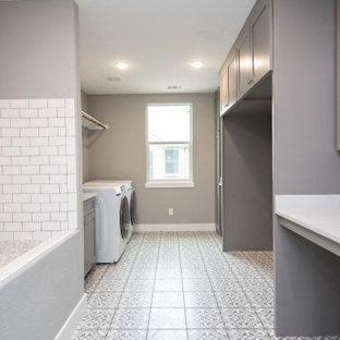 Inspiration for a laundry room remodel in Dallas