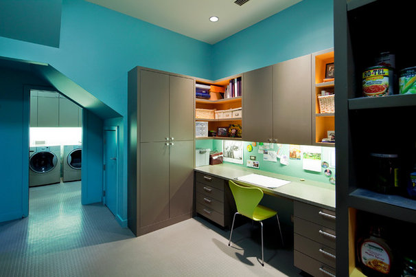 Contemporary Laundry Room by Fine Focus Photography