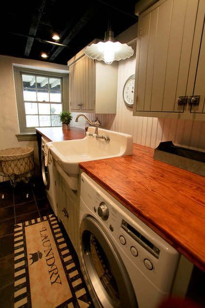 Traditional Laundry Room by bh design+build