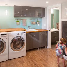 Contemporary Laundry Room by Burns Organic Modern