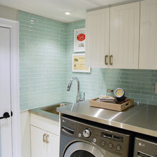 Contemporary Laundry Room by Jennifer - Rambling Renovators