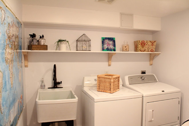 Traditional Laundry Room by Christina Katos