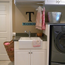 Eclectic Laundry Room by Christie Thomas