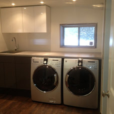 Modern Laundry Room by NIC Contracting