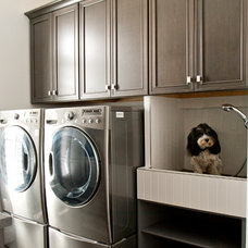 Transitional Laundry Room by Design Kitchens & Countertops