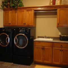 laundry room by James Craig Builders, Inc.