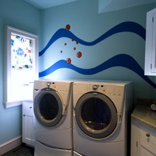 Beach Style Laundry Room by Bruce Palmer Interior Design