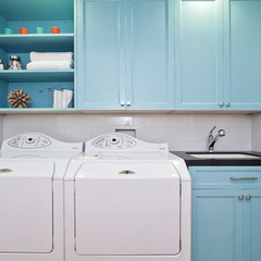 contemporary laundry room by Melissa Lenox Design