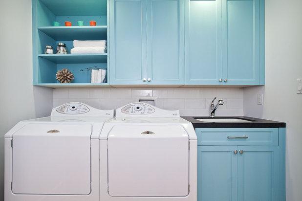 Beach Style Laundry Room by Melissa Lenox Design