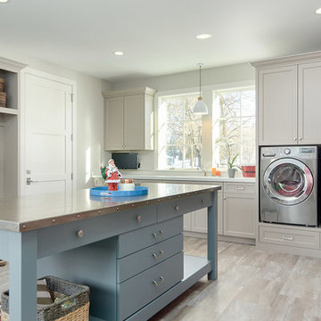 Beach Style Laundry Room