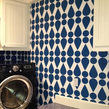 Beach Style Laundry Room