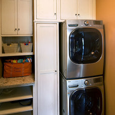 Beach Style Laundry Room by Carissa Trygstad @ Showplace Kitchens