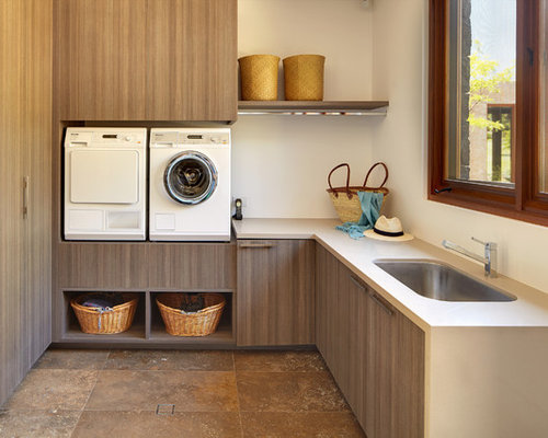 Asian laundry room design ideas remodels photos for Chambre asiatique
