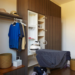 Example of a zen laundry room design in Perth
