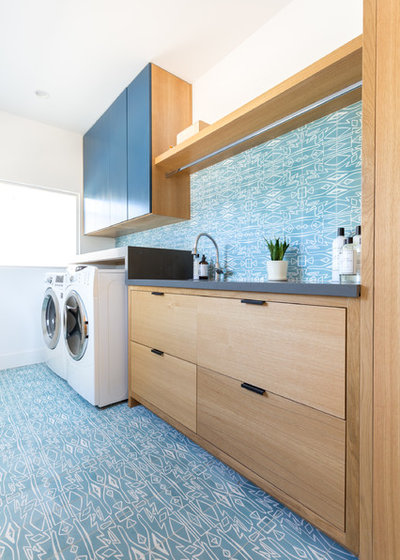 Contemporary Laundry Room by Lion Builder Construction Inc