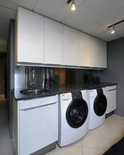 Contemporary Laundry Room by Luxurious Living Studio Inc.
