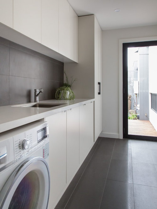 Laundry Room Design Ideas traditional single wall laundry room idea in toronto with an undermount sink raised Saveemail