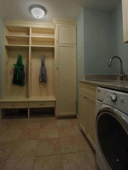 Traditional Laundry Room by Kristen Shellenbarger Designs