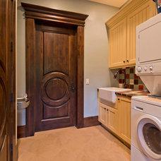Mediterranean Laundry Room by Inouye Design