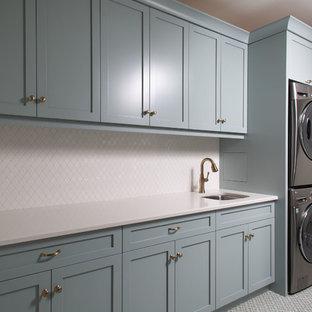 Blue-Hue Laundry Room