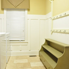 Traditional Laundry Room Board and Batten Laundry Room