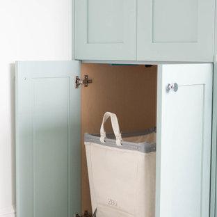 Bold & Blue Laundry Room