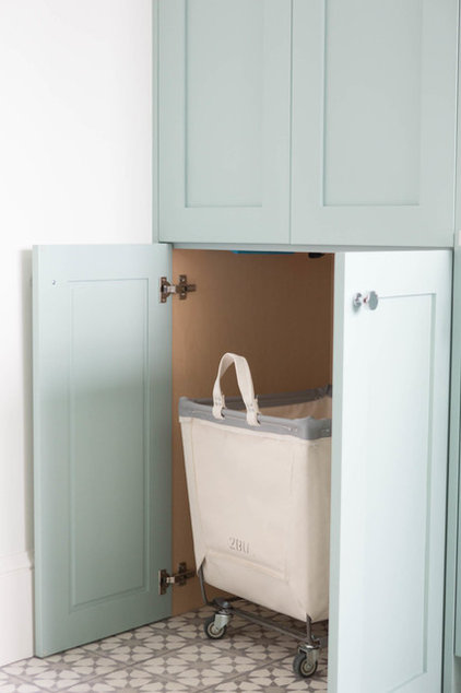 Transitional Laundry Room by Ashley Winn Design