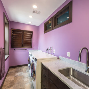 Example of an asian laundry room design in Other