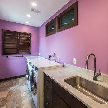Bold Bathroom, Laundry and Coffee Bar