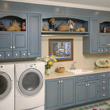 Traditional Laundry Room by Precision Cabinets Inc