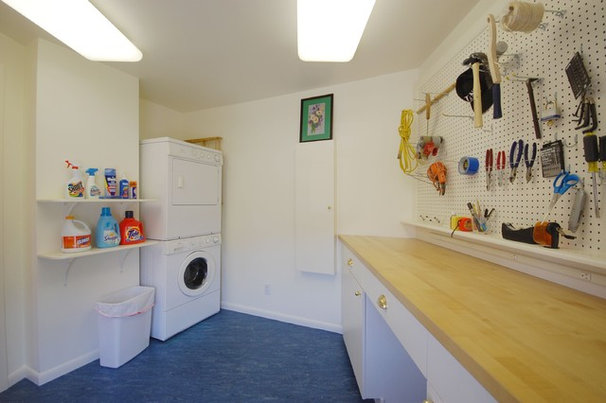 Eclectic Laundry Room by Leslie Saul & Associates