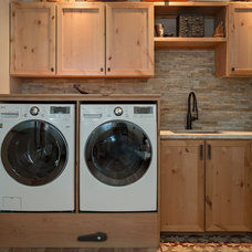 rustic laundry room by Dane Cronin Photography