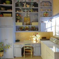 Mediterranean Laundry Room by Alexandra Lauren Designs