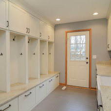 Transitional Laundry Room by Sebring Services