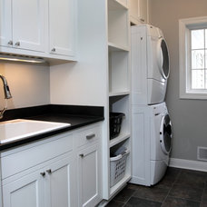 Traditional Laundry Room by Highland Builders LLC