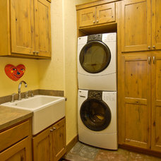Traditional Laundry Room by Mountain Log Homes of CO, Inc.