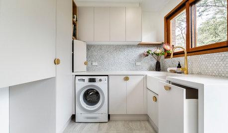 Im Schönprogramm: Ein öder Abstellraum wird zur edlen Waschküche