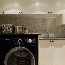 Traditional Laundry Room by Beyond Beige Interior Design Inc.