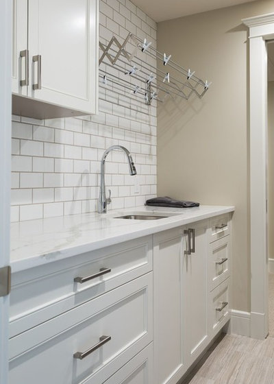 Transitional Utility Room by Marre Design Group