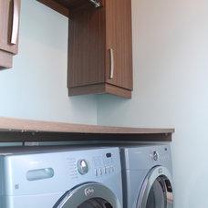 Contemporary Laundry Room by Renovation Richard Mercier Inc.