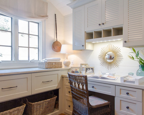 Laundry room desk ideas pictures remodel and decor for Laundry room office