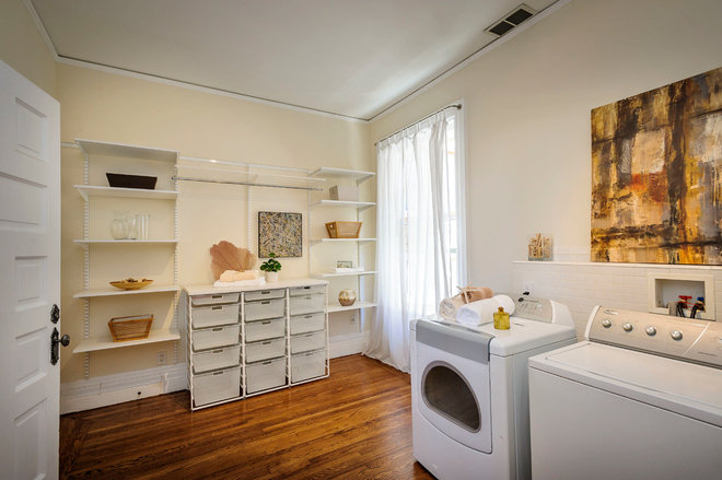 Contemporary Laundry Room by Dennis Mayer, Photographer