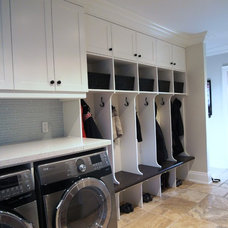 Transitional Laundry Room by Touchwood Cabinets